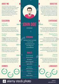 Modern Resume Cv Curriculum Vitae Template Design For Employment