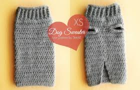 Free Crochet Dog Sweater Patterns Beauteous Extra Small Dog Sweater Crochet Pattern Stitch48