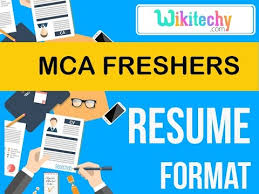 Resume Mca Freshers Resume Sample Resume Resume Templates Cv