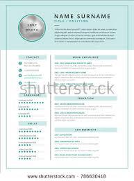 Medical Cv Resume Template Example Design Stock Vector Royalty Free