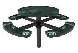 rhino round picnic tables pedestal picnic table