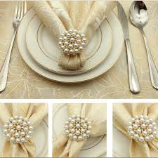 SHSEJA <b>Luxurious</b> Napkin Hotel Wedding Supplies <b>Napkin Ring</b> ...