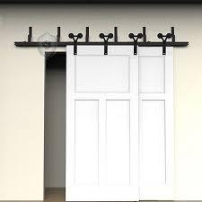 diy bypass barn door hardware. 5FT-16FT Black Bypass Country Double Sliding Track Barn Door Hardware Closet Kit 2 Diy