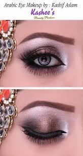 soft arabic eye makeup in copper shade