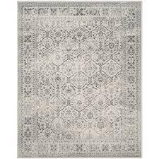 safavieh carnegie winston cream dark gray indoor distressed area rug common 8 x