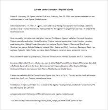 Obituary Template Word Document Under Fontanacountryinn Com