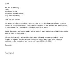 acceptance of job offer letter accepting a job offer letter via email sample top form templates