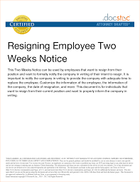 example 2 week notice resignation letter sample two weeks notice uploaded by adibah sahilah