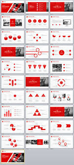 Red Ppt 31 Best Red Annual Report Powerpoint Template