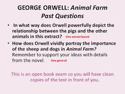 animal farm revising the novel  communicated 3 george orwell animal farm