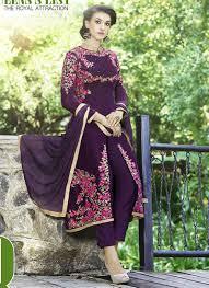 Pink Velvet Suit Design Dainty Velvet Resham Work Designer Suit