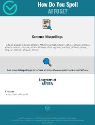 Each ipa symbol represents a sound. Correct Spelling For Affuse Infographic Spellchecker Net