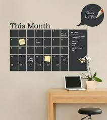 chalkboard calendar decal with memo
