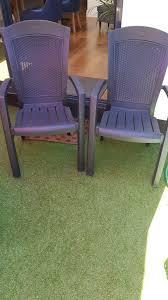 2x allibert garden chairs stackable