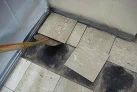 bathroom asbestos tile removal