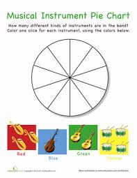 Musical Instruments Pie Chart School Worksheets Music