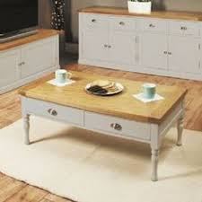 chadwick painted grey farmhouse coffee table with four drawers chadwick satin lacquered oak hidden home