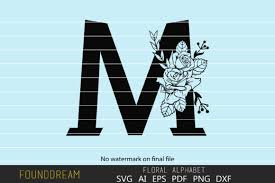 When it comes to animation, svg and gsap go together like peanut butter and jelly. Floral Alphabet M Letter Graphic By Foundream Creative Fabrica
