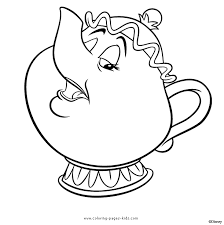 Small Picture Mrs Potts Beauty and the Beast color page disney coloring pages