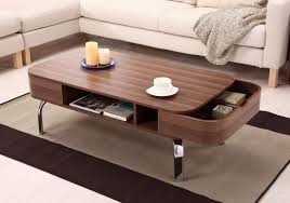 Wood Modern Coffee Table Modern Coffee Table Unique Combination Of Shape And Material