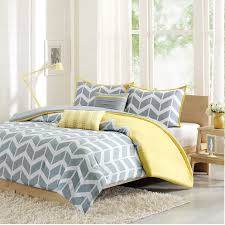 Cool and Elegant Grey and Yellow Bedroom for Sweet Home & Yellow and Grey Quilt Bedding Adamdwight.com