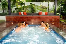 in ground jacuzzi. Large In Ground Hot Tub Ideas Home Interior Exterior Throughout Decorations 9 Jacuzzi