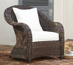 Torrey All Weather Wicker Roll Arm Occasional Chair Espresso