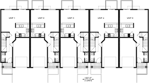 Townhouse Plans Row House Plans With Garage Sloping Lot PlansFloor Plans With Garage