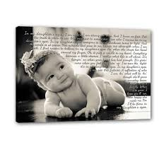 gift for dad personalized newborn photo wall art child baby with text sayings quotes canvas art 18x24 on personalized wall canvas baby with gift for dad personalized newborn photo wall art child baby with
