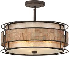 elstead quoizel laa semi flush ceiling light renaissance copper qz laa sf from easy lighting