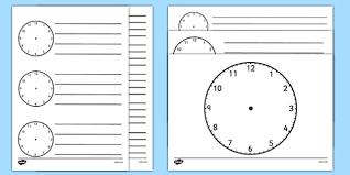 Blank Templates Free Blank Clock Templates Free Resource