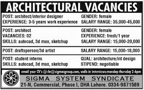 Draftsman, Interior Designer, 3D Max Operator & Civil Engineering Jobs in  Rawalpindi 2014 May