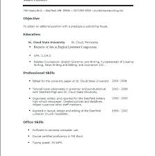 Sample Resume With No Experience Resume Invoice