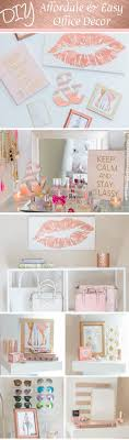 pink office decor. the chic technique diy lip print ampersand and chanel office decor glamourzine pink