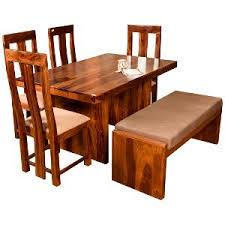 wooden dining table. Modren Table Induscraft Sheesam Wood Dining Table Set  Brown  Sets  HomeShop18 Throughout Wooden