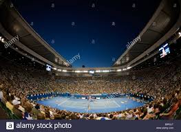 australian open roof view of the rod laver arena with the open roof during the