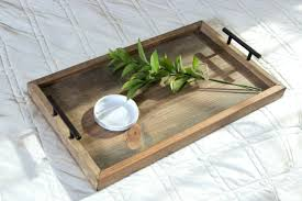 mareines black coffee table with serving trays handmade home goods tray handles wooden nwkuvqezfu1udadtho1