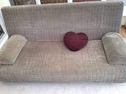 ikea three seat sofa bed beddinge lovas in beige brown with storage box and cushions