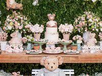 123 Best decoracao festas shabby chic infantil images | Swan decor ...