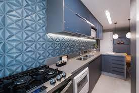 cozinha gourmet » 100 lindas inspirações para planejar e montar a sua! Cozinha Azul E Cinza Cozinha Azul Cozinha Armarios Azuis