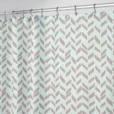 shop interdesign nora polyester taupe mint with a herringbone