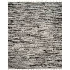safavieh rag rug transitional stripe hand woven cotton grey area rug 10 x