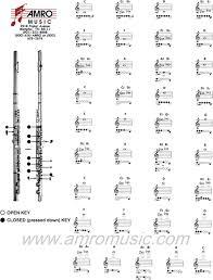 Flute Chart Pdf Free Flute Fingering Chart Pdf 233kb 1 Page S