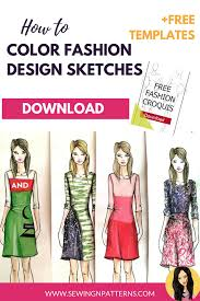 Sketching Clothing How To Color Fashion Design Sketches Quick And Easy Tutorial