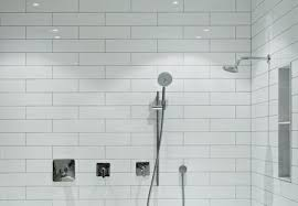 Fiberglass shower stalls Free Standing Tiled Shower With Two Shower Heads And Shelf Whoisrecordinfo Choosing Between Prefabricated Stall Or Tiled Shower