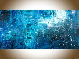 pouring rain by qiqigallery 48 x 24 large wall art blue abstract original artwork canvas art wall art wall decor home decor wall hanging blue teal  on large wall art teal with pouring rain by qiqigallery 48 x 24 large wall art blue abstract