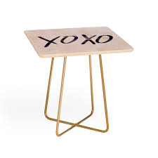 Xoxo furniture Shabby Chic Leah Flores Xoxo Side Table Deny Designs Xoxo Side Table Leah Flores