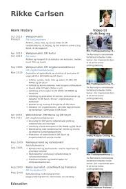 Webjournalist Resume samples