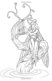 Small Picture 165 best Fairie coloring pages images on Pinterest Coloring