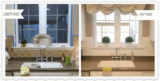 painted tile backsplash before and after